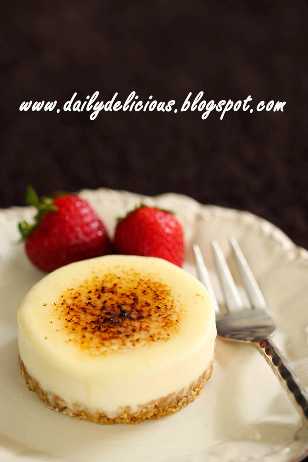 dailydelicious: Crème brûlée Cheesecake: Lovely and easy no bake ...