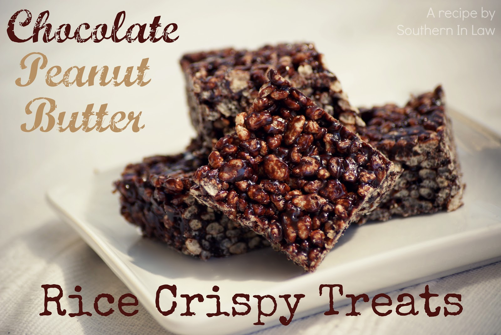 Southern In Law: Recipe: Chocolate Peanut Butter Rice Crispy Treats
