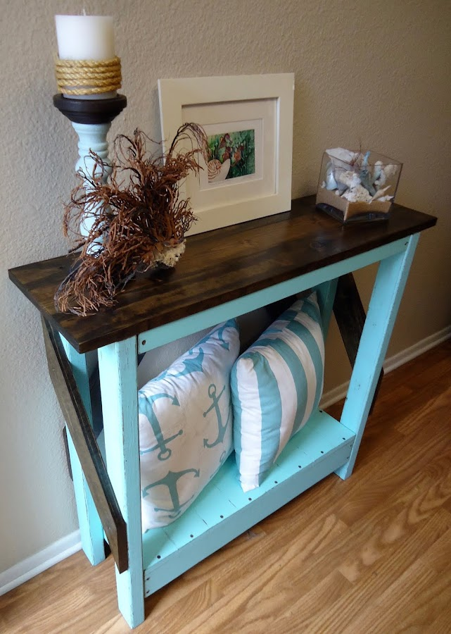 Tiffany Blue Console Table - SOLD