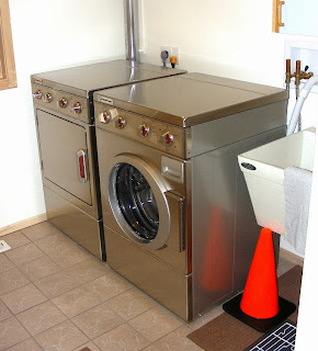Speed Queen Washer Dryer and laundry room vent to attic installed 2014