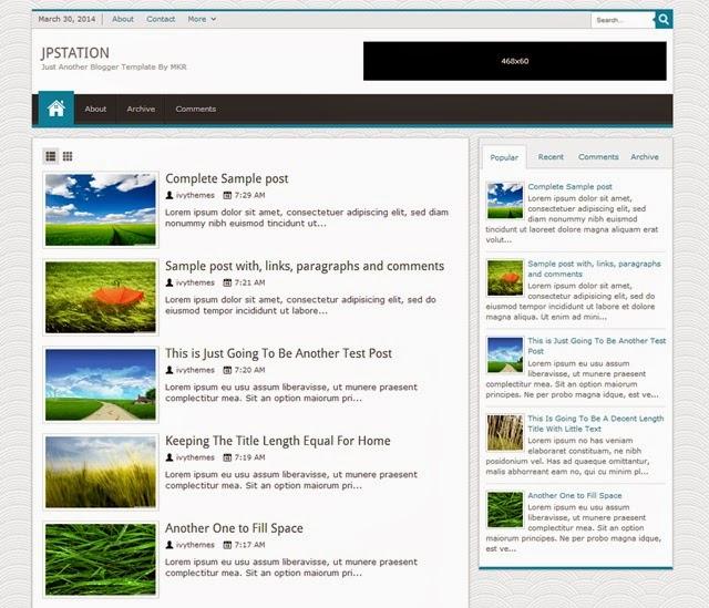 JPstation Free Download Blogger Template
