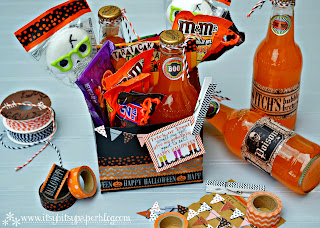 Halloween Soda carrier treat basket
