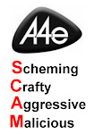 A4e Scam in red - A4 size