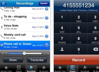 APPLICAZIONE IPHONE PER REGISTRARE LE TELEFONATE GRATIS