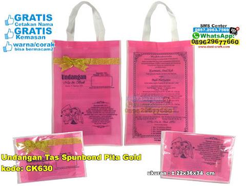Undangan Tas Spunbond Pita Gold