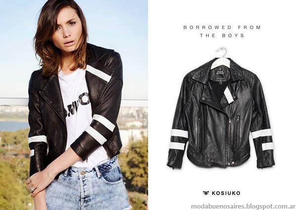 Looks con shorts y camperas, Moda 2014. Verano 2014. Kosiuko.