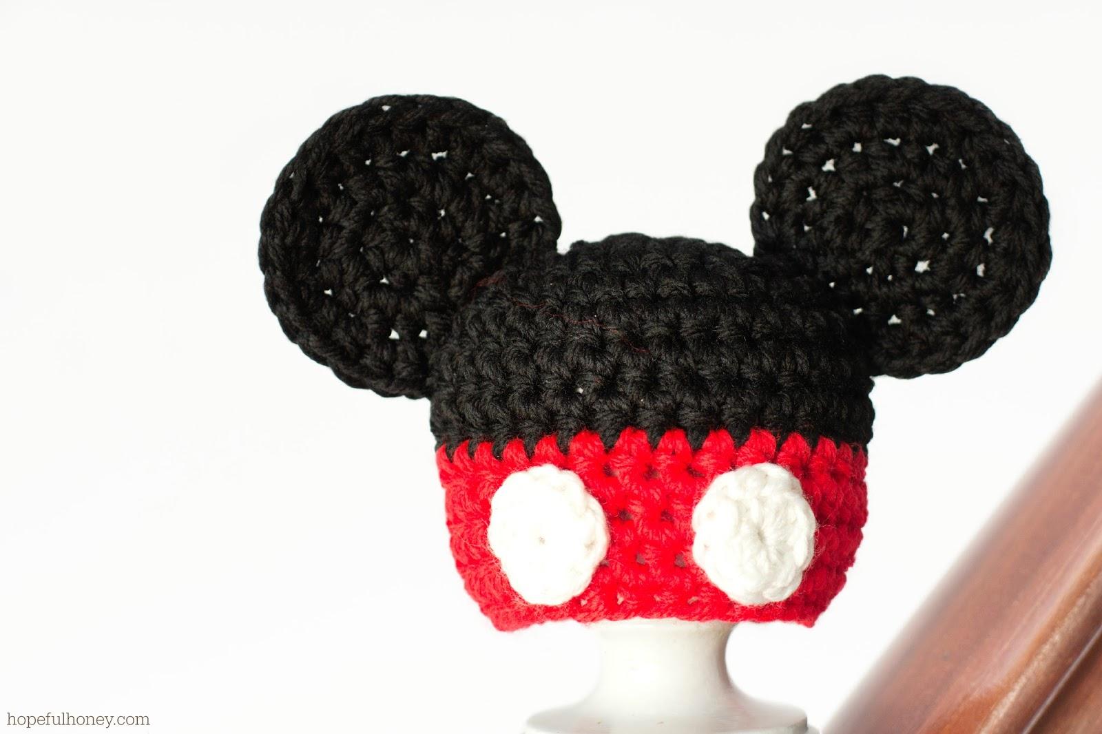 Free Crochet Pattern Mickey Hat : Crochet Mickey Mouse Hat - Viewing Gallery