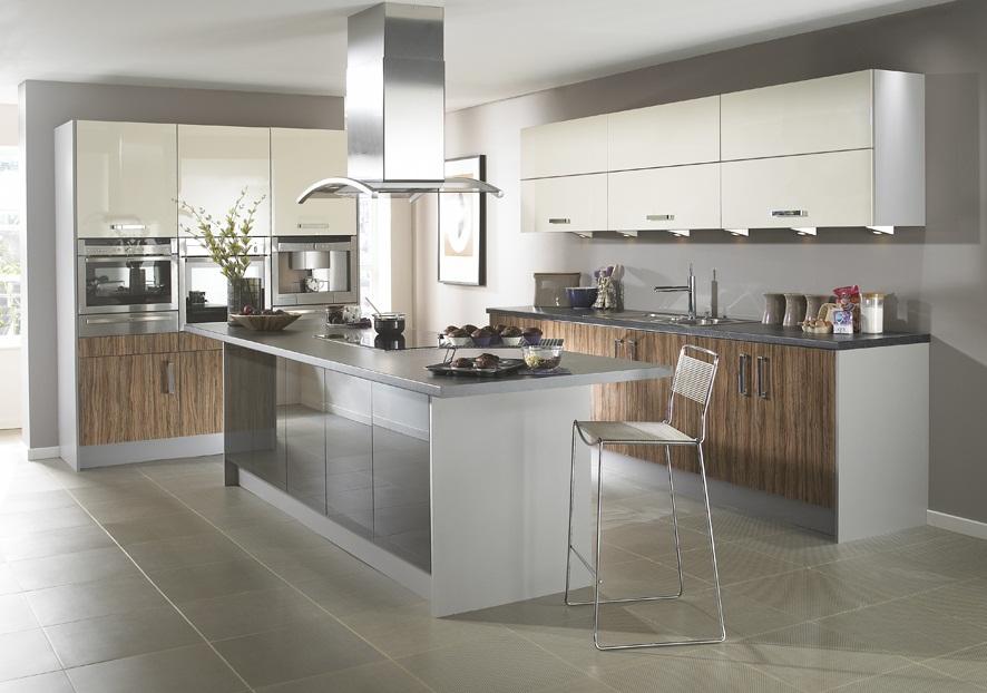 Doos interiorismo cocinas de dise o for Cocina de madera gris oscuro