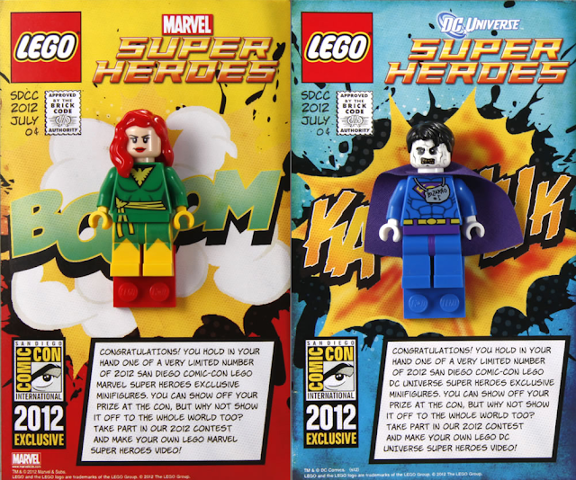 San Diego Comic-Con 2012 Exclusive Marvel & DC Universe LEGO Mini Figures - Good Phoenix (aka Jean Grey) & Bizarro