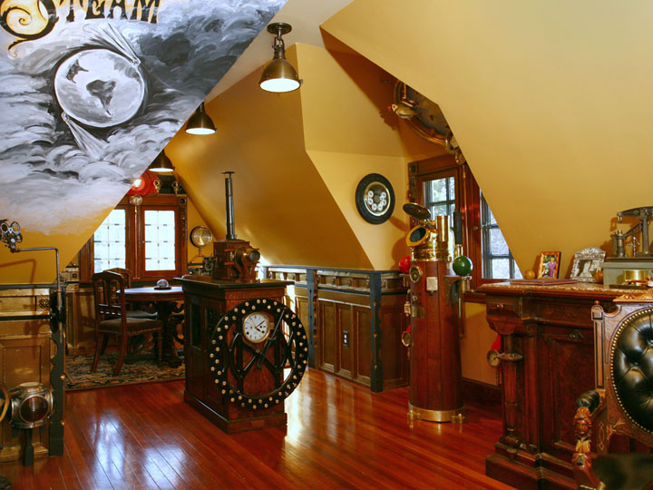 The steampunk parlor steampunk decor Steampunk home ideas