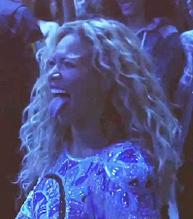 Beyonce Knowles sexy tongue New Zealand