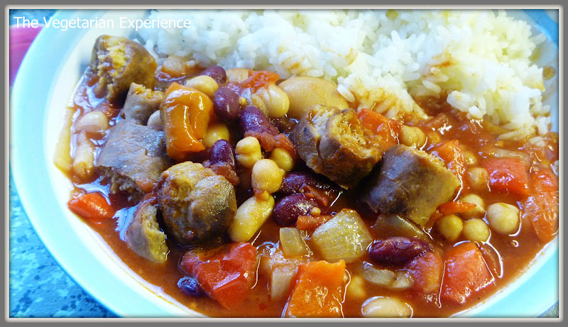 The Vegetarian Experience: Vegetarian Sausage and Bean Casserole