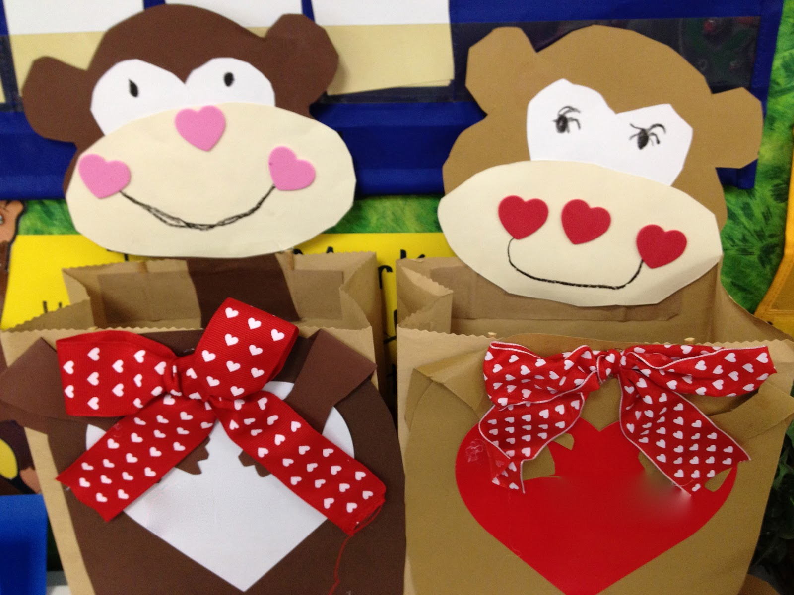 monkey around when we made our bags to collect our valentines the students were so proud of themselves as they delivered valentines i love this day