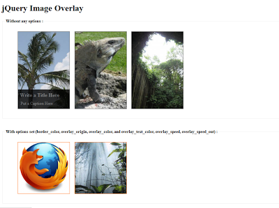 JQuery Image Overlay