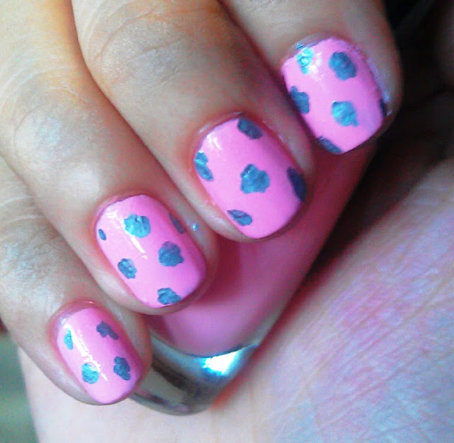 pink leopard nails nail art tutorial diy easy fast quick sharpie pen how to