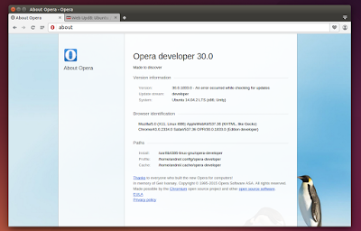 Opera Developer Linux 32bit