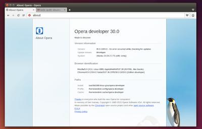 Opera Developer Linux 32bit