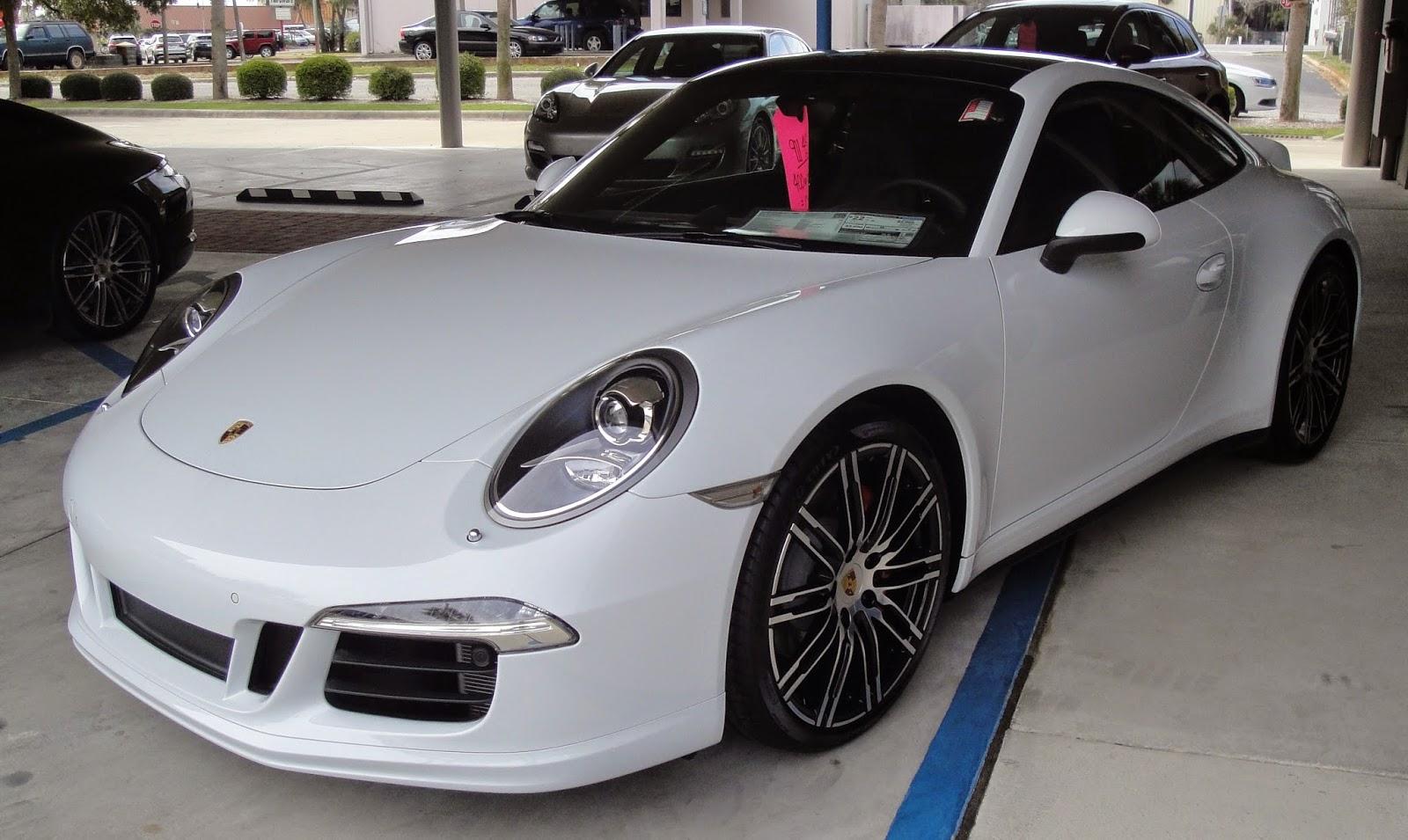 2015 porsche 911 carrera 4s carrera white mettalic with black interior - 911 Porsche 2015 White