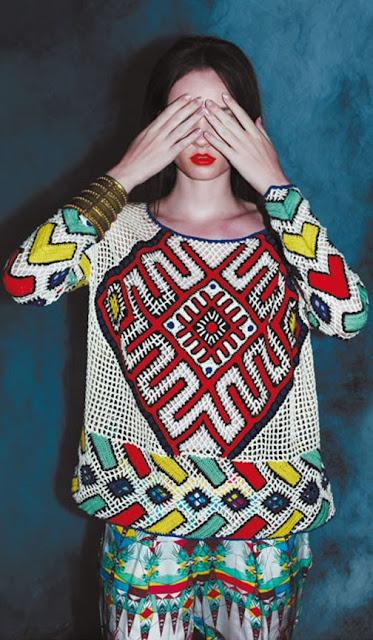 вязаный свитер 2013 Tampico