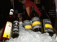 Cornerstone Estate Wine Bottles Being Chilled