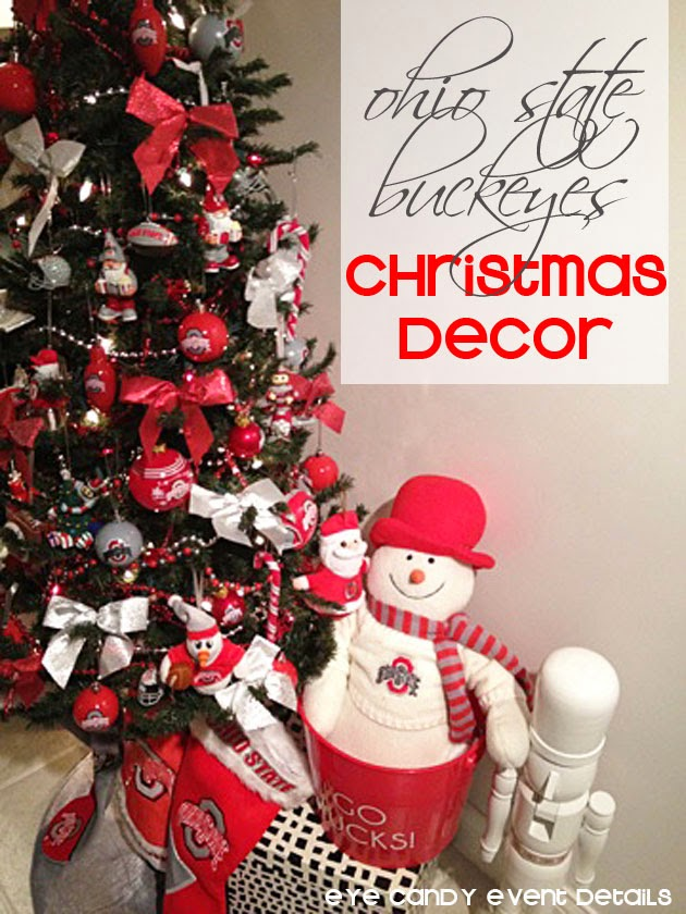 Eye Candy Creative Studio: {HOME} Man Cave Christmas Decor + OSU Tree