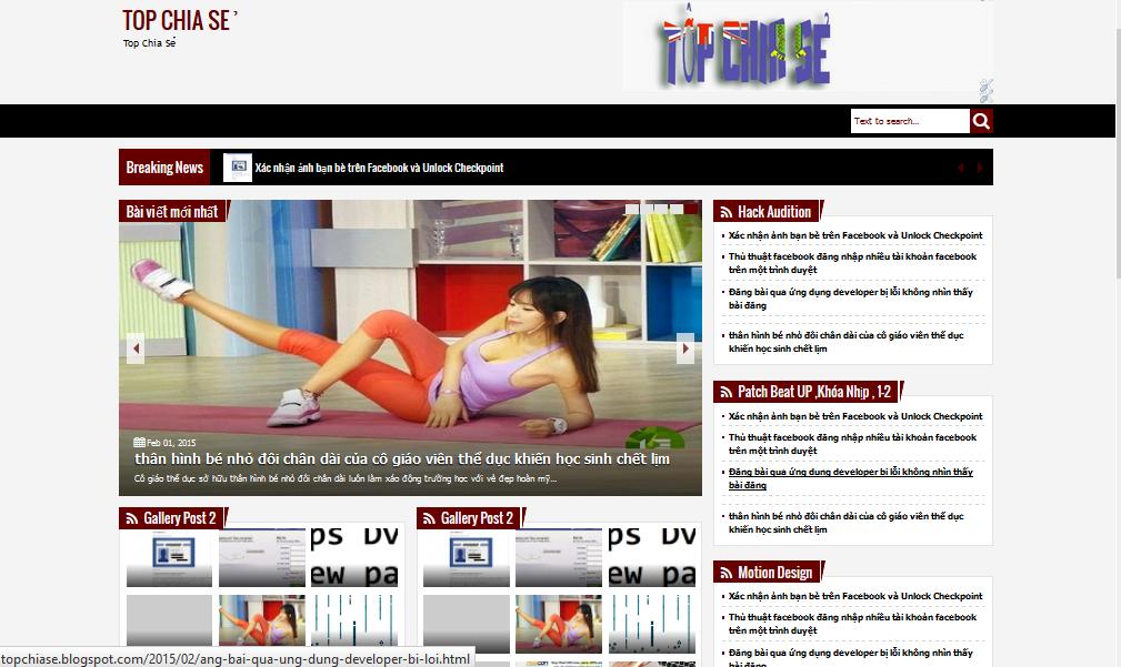 template responsive blogger tin tức