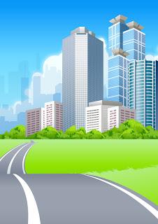carretera camino a la ciudad