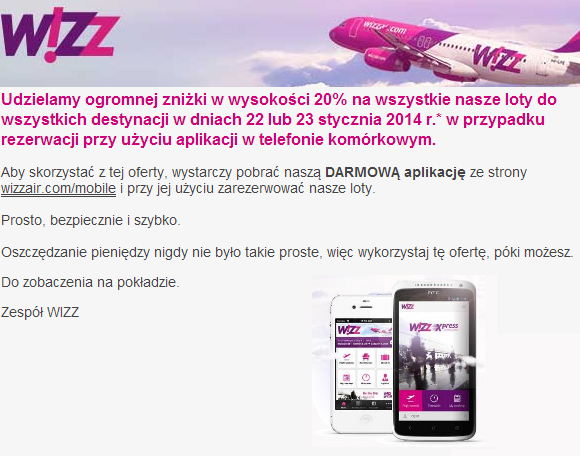 Wizzair mobile