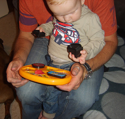 Shape sorter is a hit with the baby