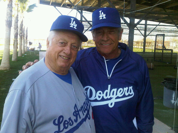 Tommy Lasorda and Dom Mattingly