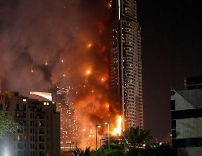 Композит, композитные панели, кассеты горят, возгорание, пожар, Дубай
