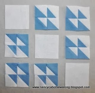 Moore About Nancy Winged Square Quilt Block