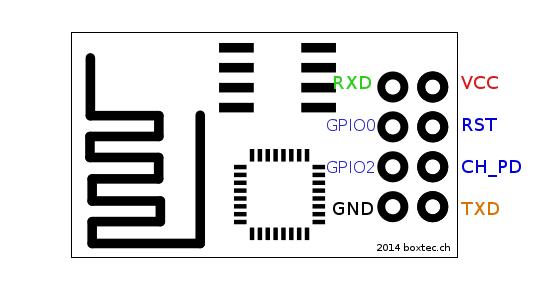 esp8266 wiring schemas