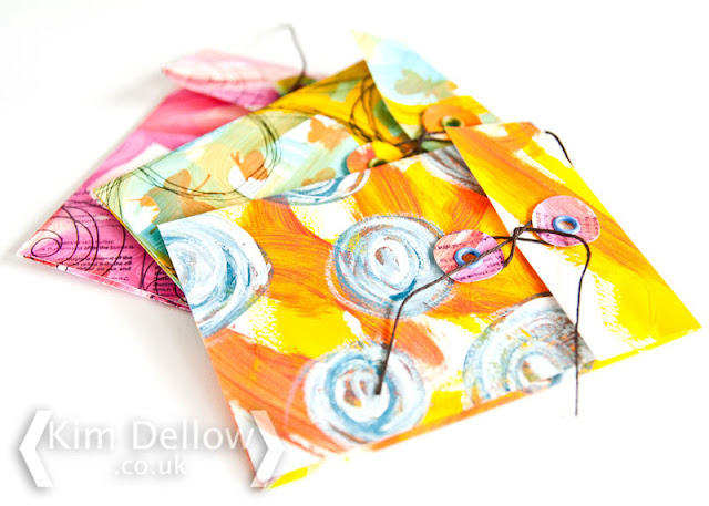 DIY Mixed Media Keepsake envelopes