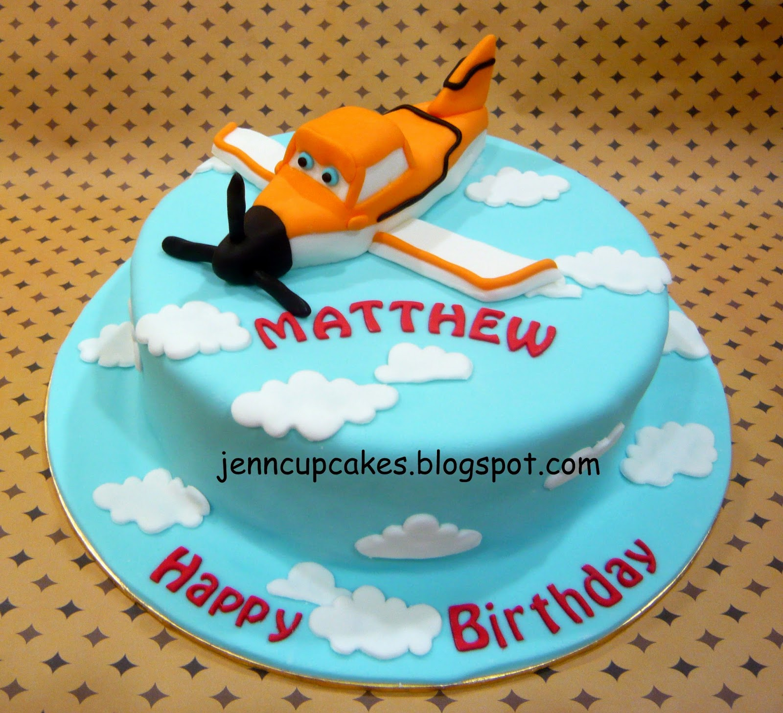 Disney Plane Cake Images : Jenn Cupcakes & Muffins: Disney Planes (Dusty) Cake