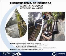 HidroSistema de Córdoba, realiza acciones en beneficio de la ciudadanía