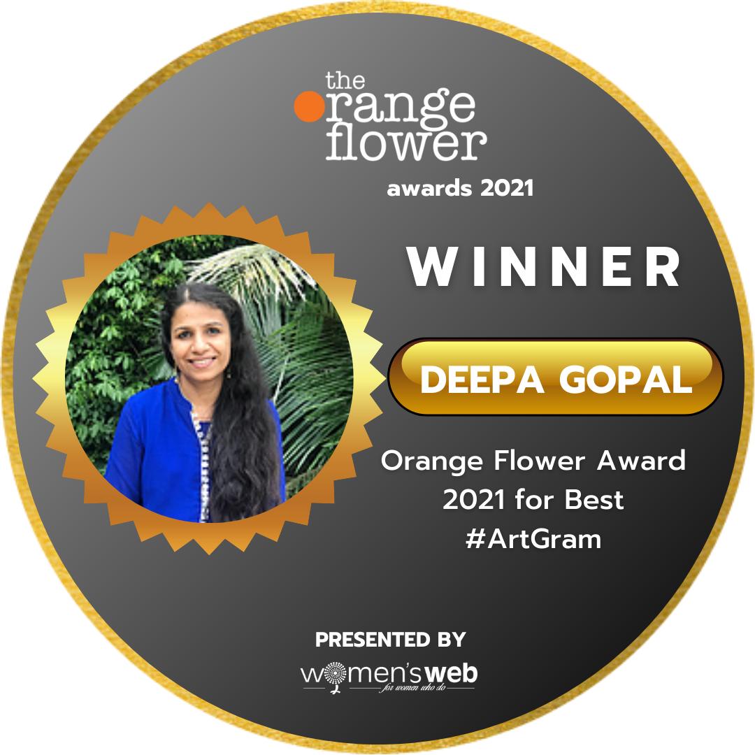Orange Flower Award for Artgram 2021