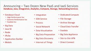 Enterprise Software Musings - Oracle PaaS Announcements