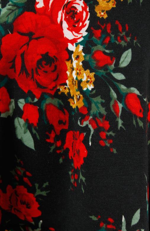 Black Rose Full Bloom Peplum Top