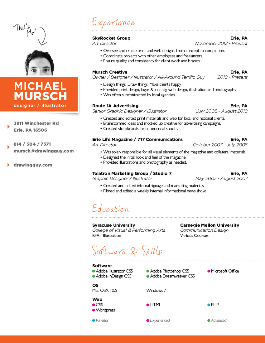 Graphic Designer Resume In Pdf