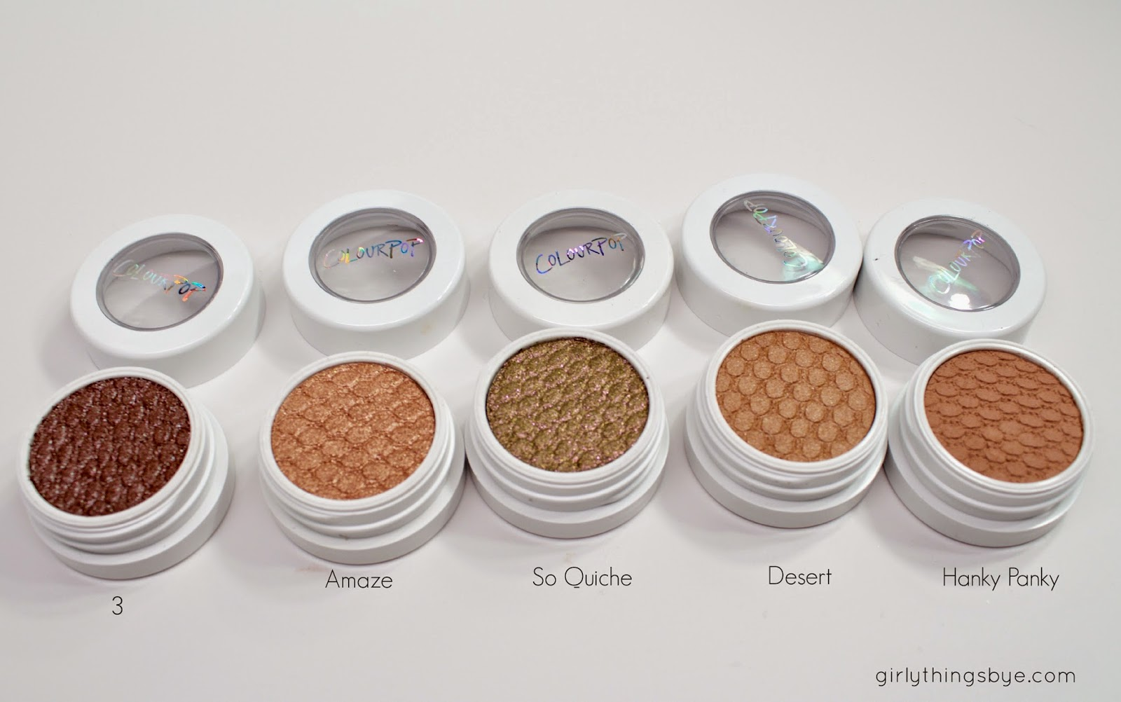 Colour Pop Super Shock Shadows, 3, Amaze, So Quiche, Desert, Hanky Panky