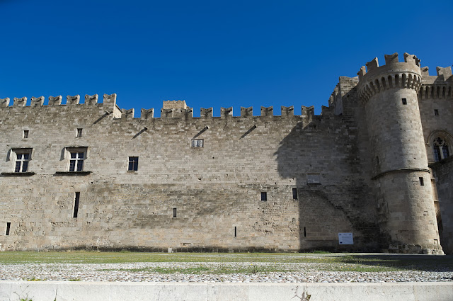 Old Castle in the old medieval city of Rhodes, Greece.