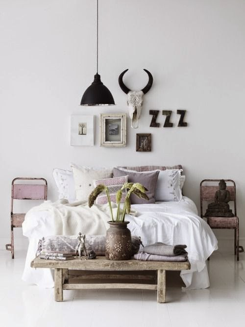 Horns on the wall