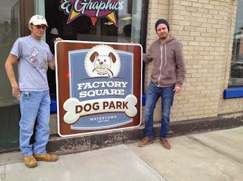 Larry and Jason from AVL Graphics Finished Up Sign