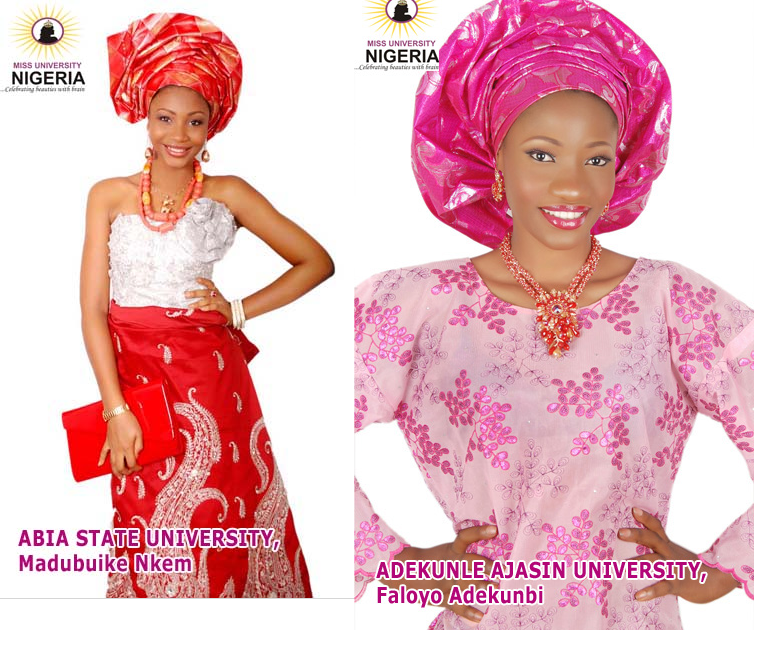 Miss Nigeria University Contestants for 2013