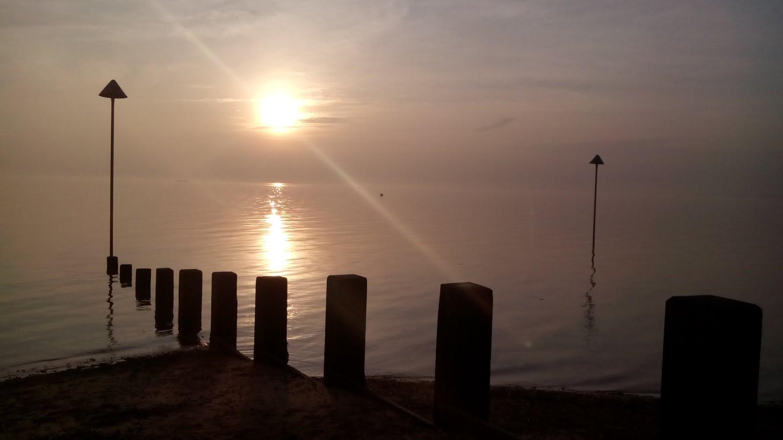 Mijn zonsondergang in de winter