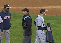 Paul Clemens forgets to take off jacket