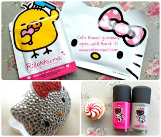 Time for Kawaii giveaway full of Mac nail polishes Hello Kitty bling. Till March 30th. Internationa