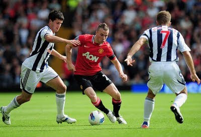 Tom Cleverley Manchester United vs West Brom Barclays Premier League