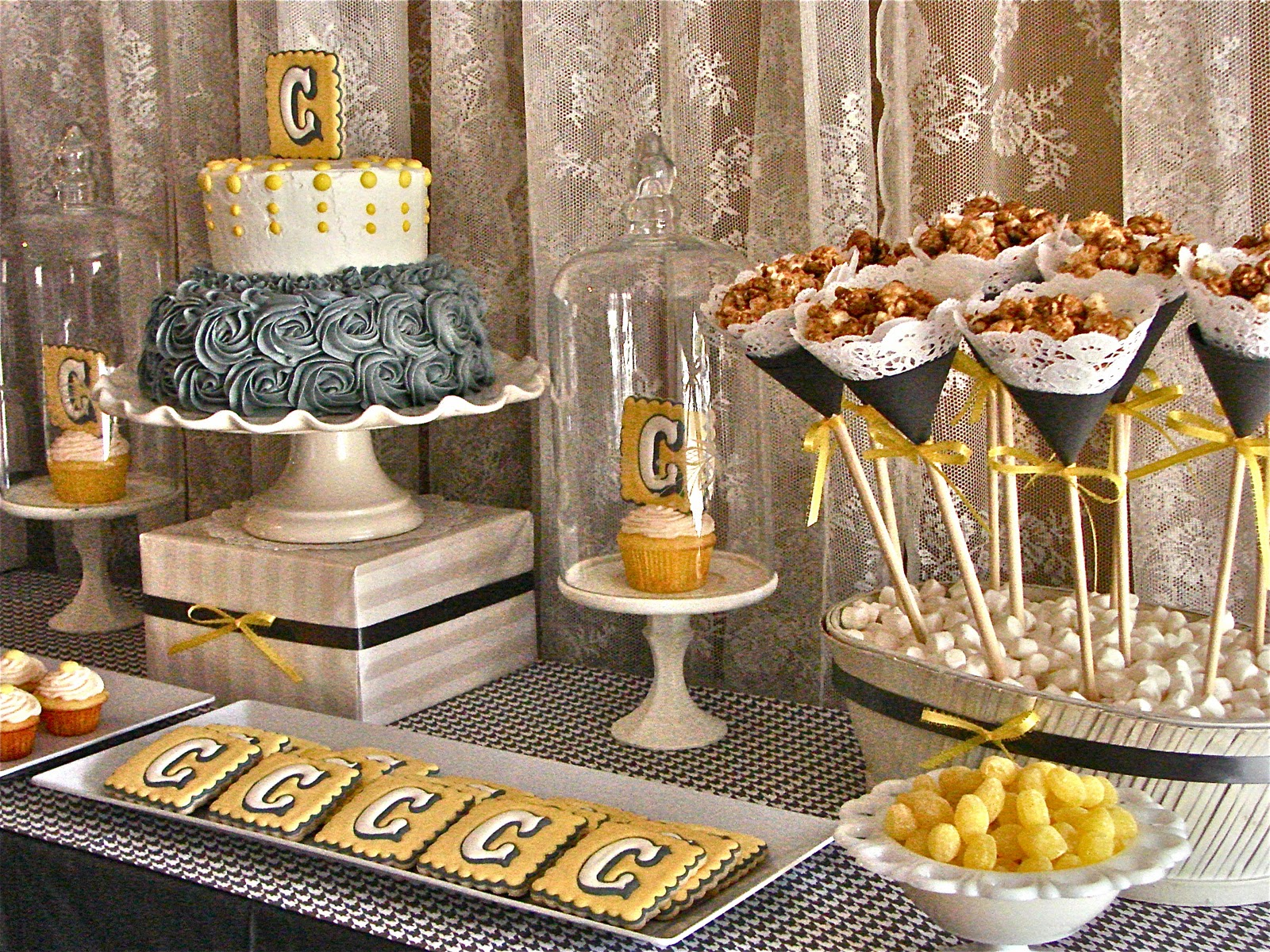oh sugar events grey and yellow shower